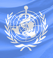 World Health Organization flag.